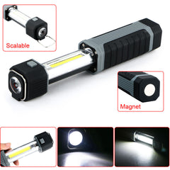 COB LED Stretchable Flashlight Torch with Strong Magnet - ePeriodLED