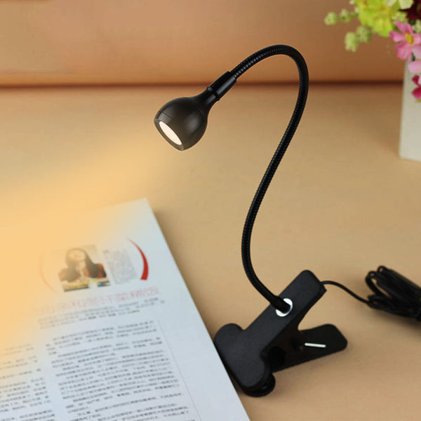 5V USB Rechargable Flexible Eye-care LED Table Lamp 2 colors Clip-on Clamp - ePeriodLED