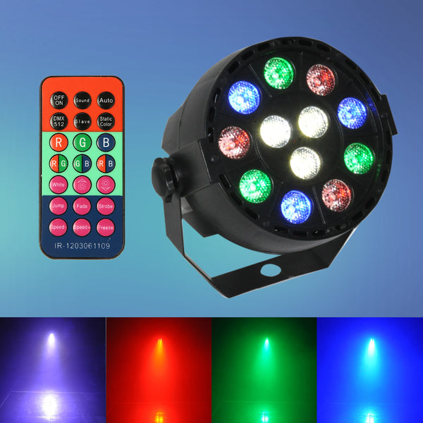 DMX-512 12 LED Stage Light 12W RGB  Laser Projector With Remote Contrller - ePeriodLED