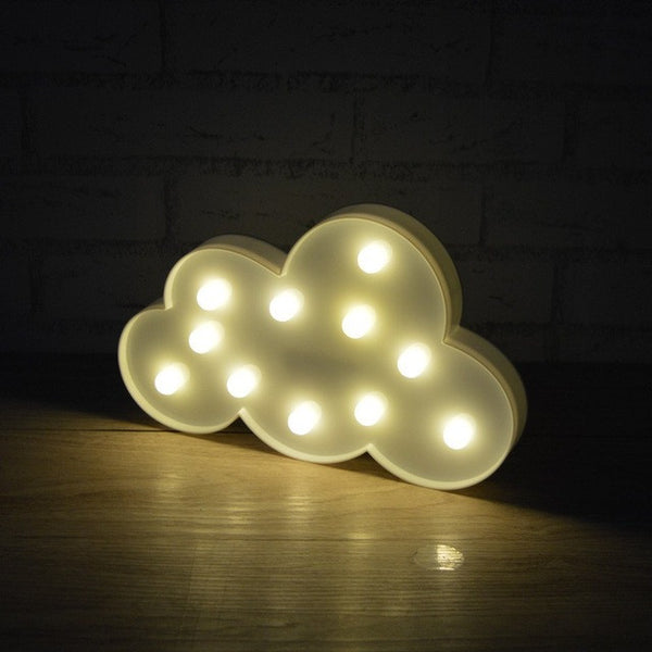 3D Marquee Cloud Night light with 11LED Battery operated - ePeriodLED