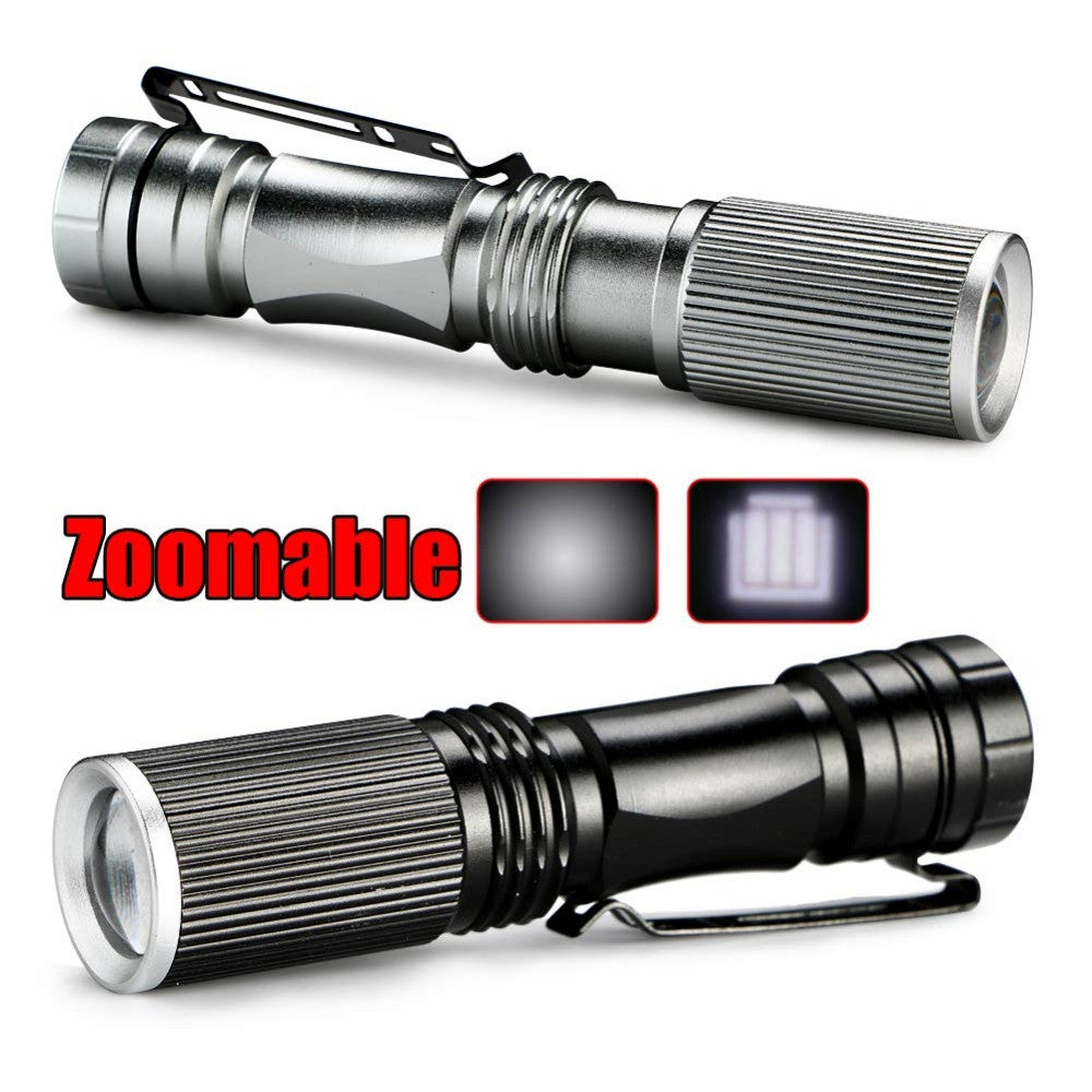 Mini LED Flashlight ZOOM 7W CREE Q5 2000LM Waterproof - ePeriod Led Lighting Store