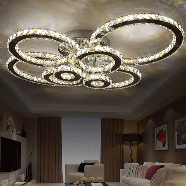 Modern Luxury LED Crystal Ceiling Lights For Living Bedroom - ePeriod Led Lighting Store