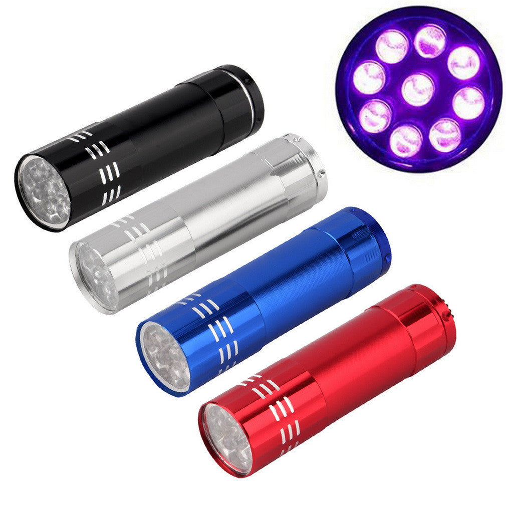 Mini Aluminum UV Ultra Violet 9 LED Flashlight Torch Light Lamp - ePeriod Led Lighting Store