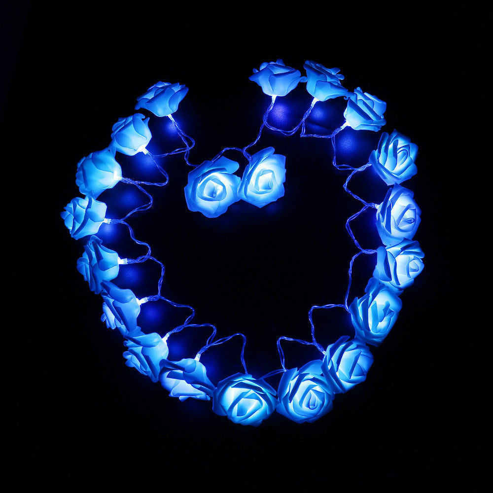 Rose Flower 9 Colors Lighting String for Wedding Garden - ePeriod Led Lighting Store
