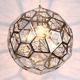 Modern Craft Cord Pendant Light Hollow Stainless Steel Ball - ePeriod Led Lighting Store
