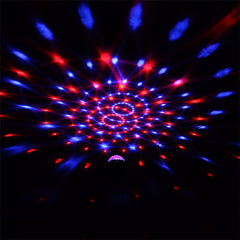 IR Remote RGB LED Crystal Magic Rotating Ball Stage Light