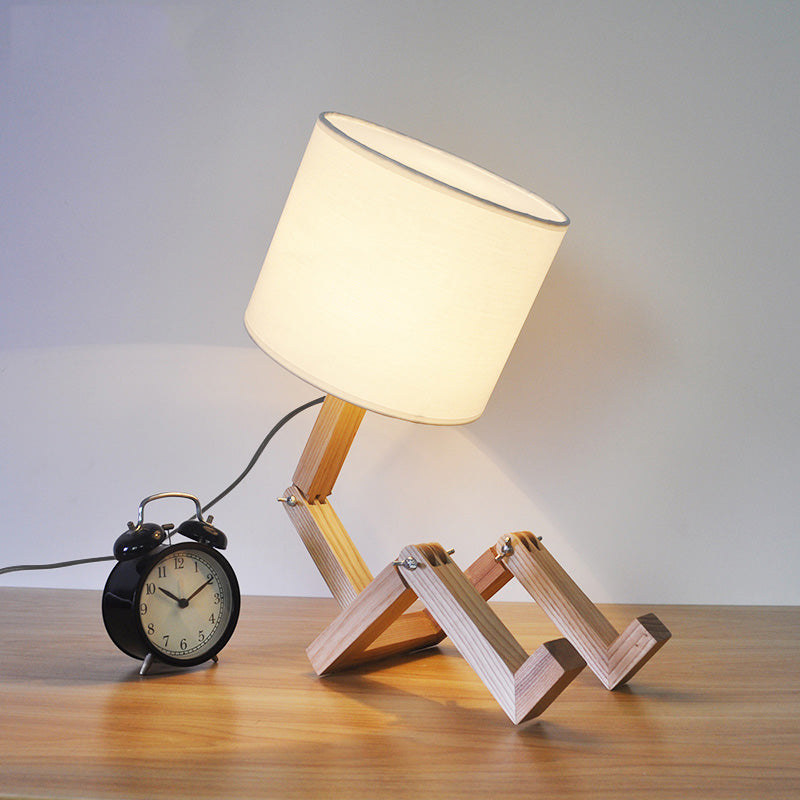 Creative Wooden Base Foldable Table Lamps For Living Room Bedroom