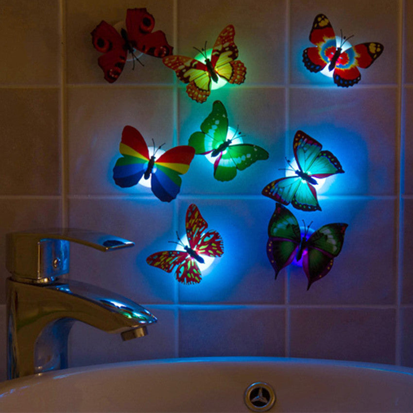 10pcs Colorful Artificial Butterfly LED Night Light - ePeriodLED