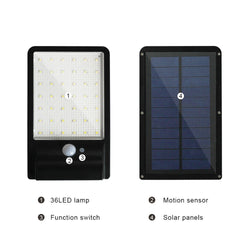 500LM 42led Solar Lamp Waterproof Motion Sensor Garden Wall Lamp - ePeriodLED