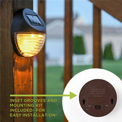 Outdoor LED Solar Light 2LED warm white Waterproof IP55