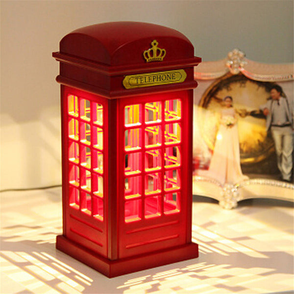 Adjustable Retro London Telephone Booth USB Dual-Use LED Table Lamp - ePeriodLED