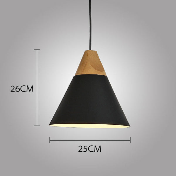 Modern Wood Pendant Lights Lamparas Colorful Aluminum lamp - ePeriod Led Lighting Store
