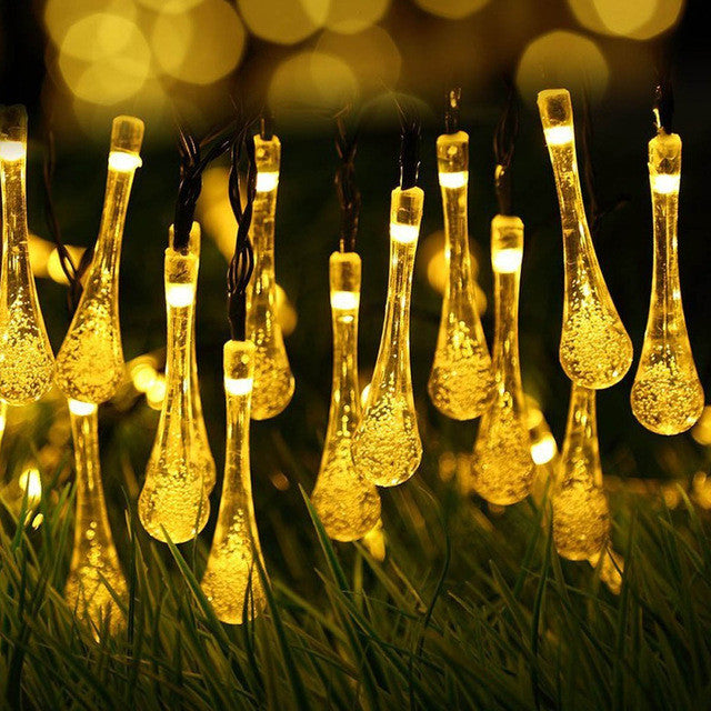 Waterproof 4.5M Water Drops Shaped LED String - ePeriod Led Lighting Store