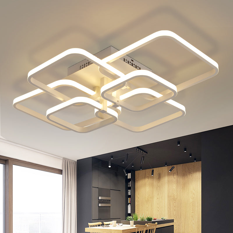 Rectangle Acrylic Aluminum Modern Led ceiling lights