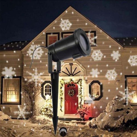 Waterproof Moving Snow Laser Projector Snowflake shape - ePeriod Led Lighting Store