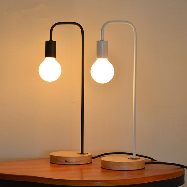 Metal Modern Nordic Black/White Desk Table Lamps Light Fixtures - ePeriod Led Lighting Store