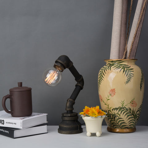 Vintage Table Lamps Creative Water Pipe Desk Lights for Bar/Bedroom/Study/Work - ePeriod Led Lighting Store