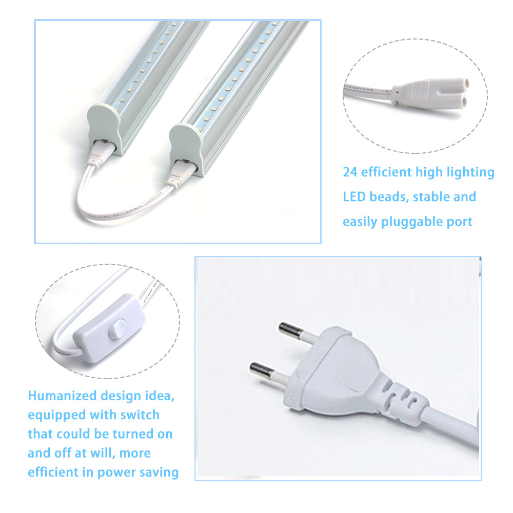 5W LED Grow Light with Switch Cable 2835smd Vegetable Plant 5pcs/lot - ePeriod Led Lighting Store
