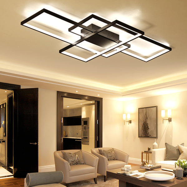 Rectangle Modern Aluminum Led ceiling lights AC85-265V - ePeriod Led Lighting Store