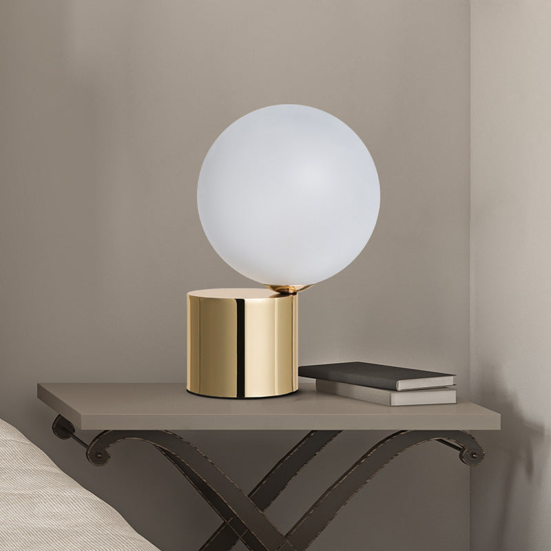 Gold Globe glass Metal Bedside LED Table lamp