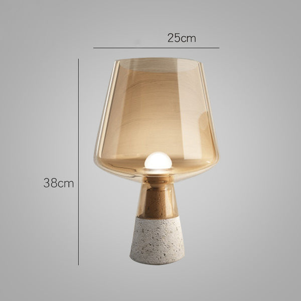 Nordic Table Lamp Bedside Lamp Glass Bedroom Led Desk Lamp Home decor - ePeriod Led Lighting Store