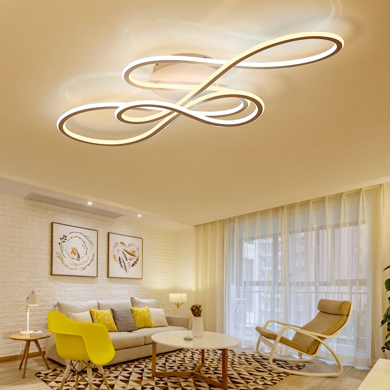 Double Glow modern led ceiling lights for living room bedroom lamp fixtures - ePeriodLED