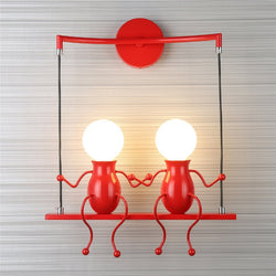 Cartoon Double People AC85-265V Led Wall light