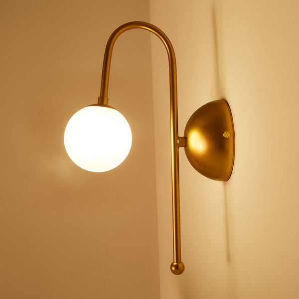 Gold Iron Glass Led Wall Lamp Sconce 110-220V