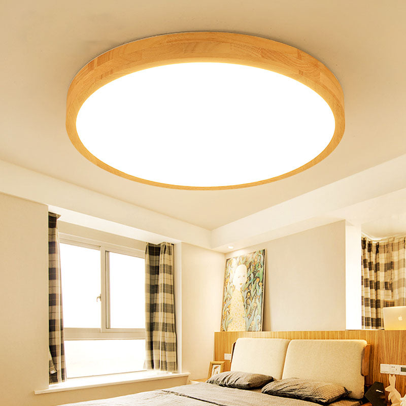 Ultra-thin 7CM wooden LED ceiling lighting for home