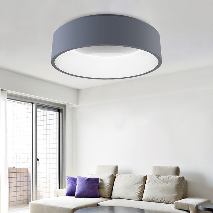 Round LED Ceiling Light Grey Circle Ceiling Mounted Lamp