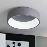 Simple Modern Round LED Ceiling Light White/Grey Circle Ceiling Mounted Lamp