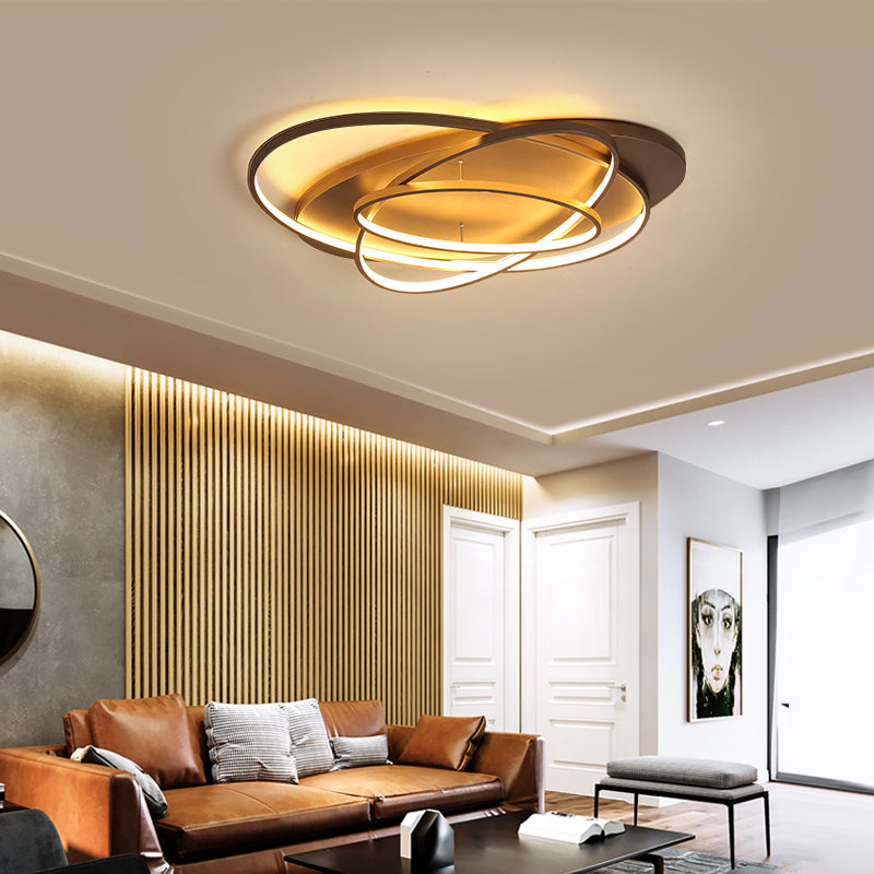 Luminaires Rings Creative Modern LED Chandelier Acrylic Ceiling lighting - ePeriod Led Lighting Store