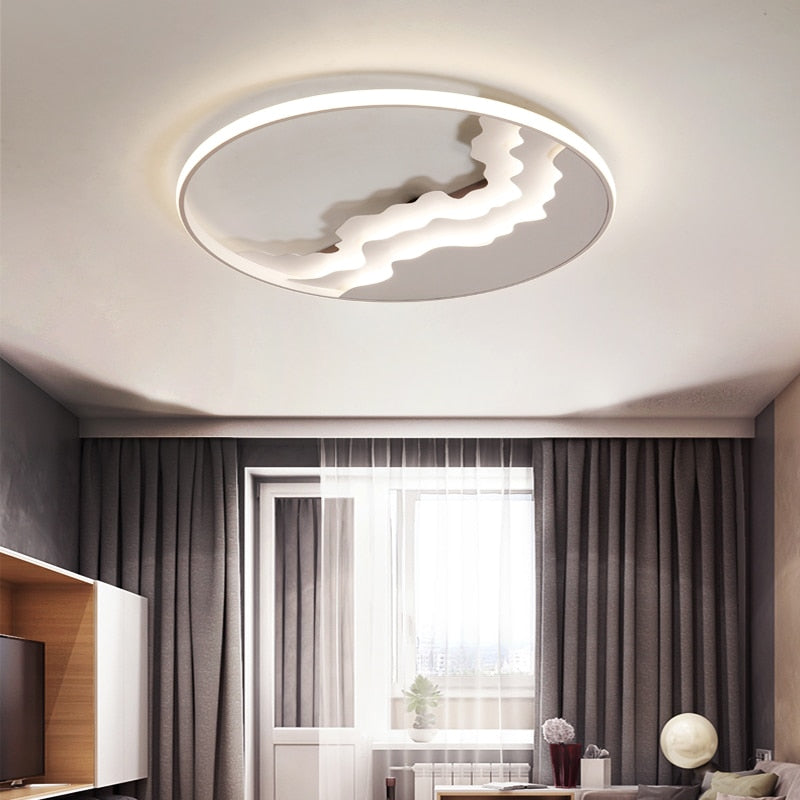 Modern LED Ceiling Light Dimmable with Remote Control