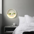 Nordic Wall Lamp with Succulent Planter Iron Circle Round