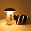 Mushroom table lamp with 5 Phone Quick Charger port
