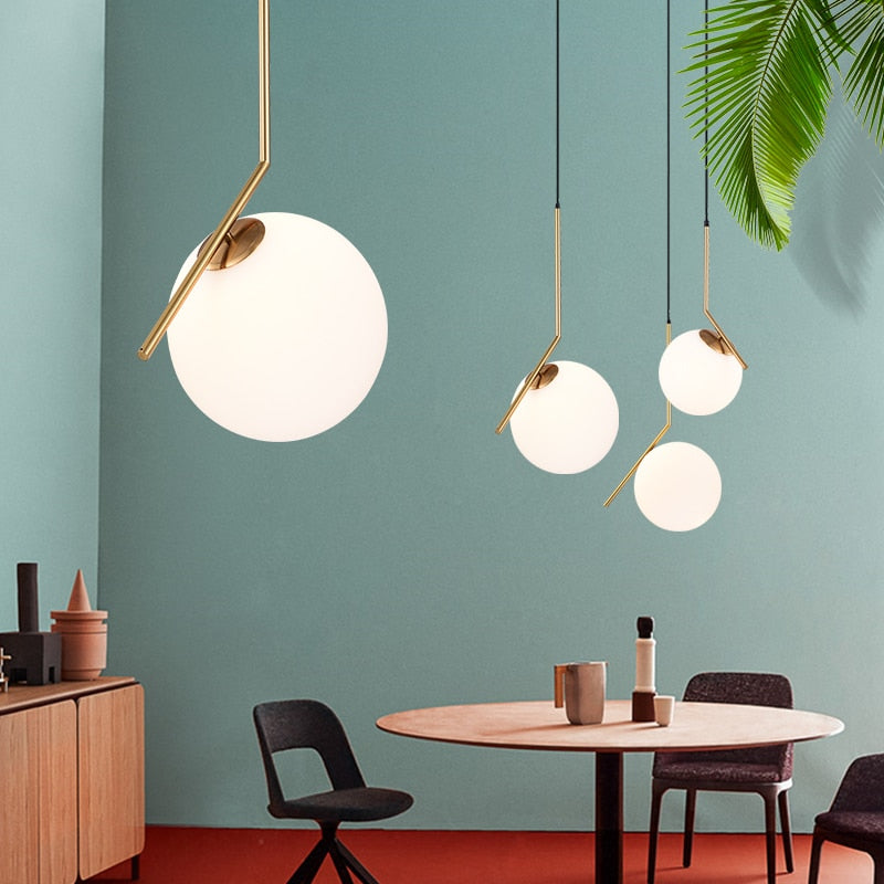 Modern Minimalist Nordic glass ball LED Pendant Light Lamp