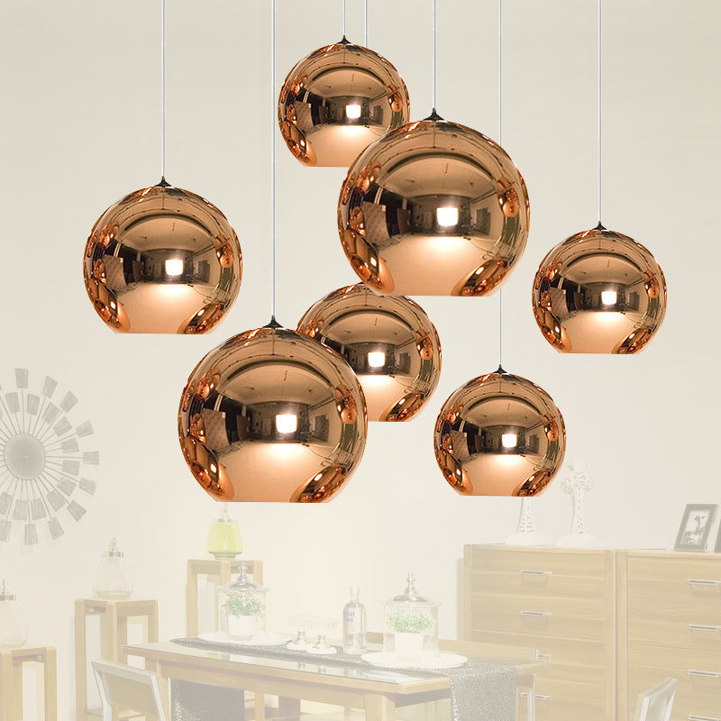 LED Gold Copper Glass Globe Round Ball Pendant Lights - ePeriod Led Lighting Store