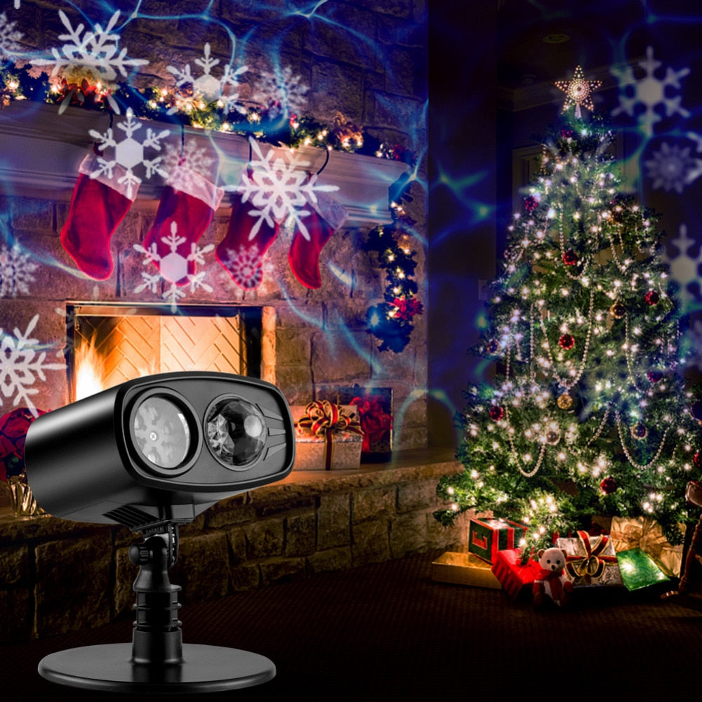 Moving Blue watermark Snowflake Led Laser Projector