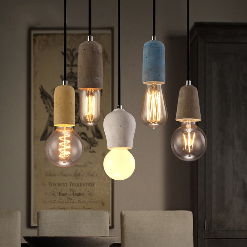 Modern Pendant Lights Concrete Kitchen Dining Room lamp