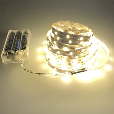 3AA Battery powered LED Strip non-Waterproof 3528 60LEDs/M