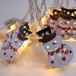 Iron Painted Snowman Christmas Battery Box Light string