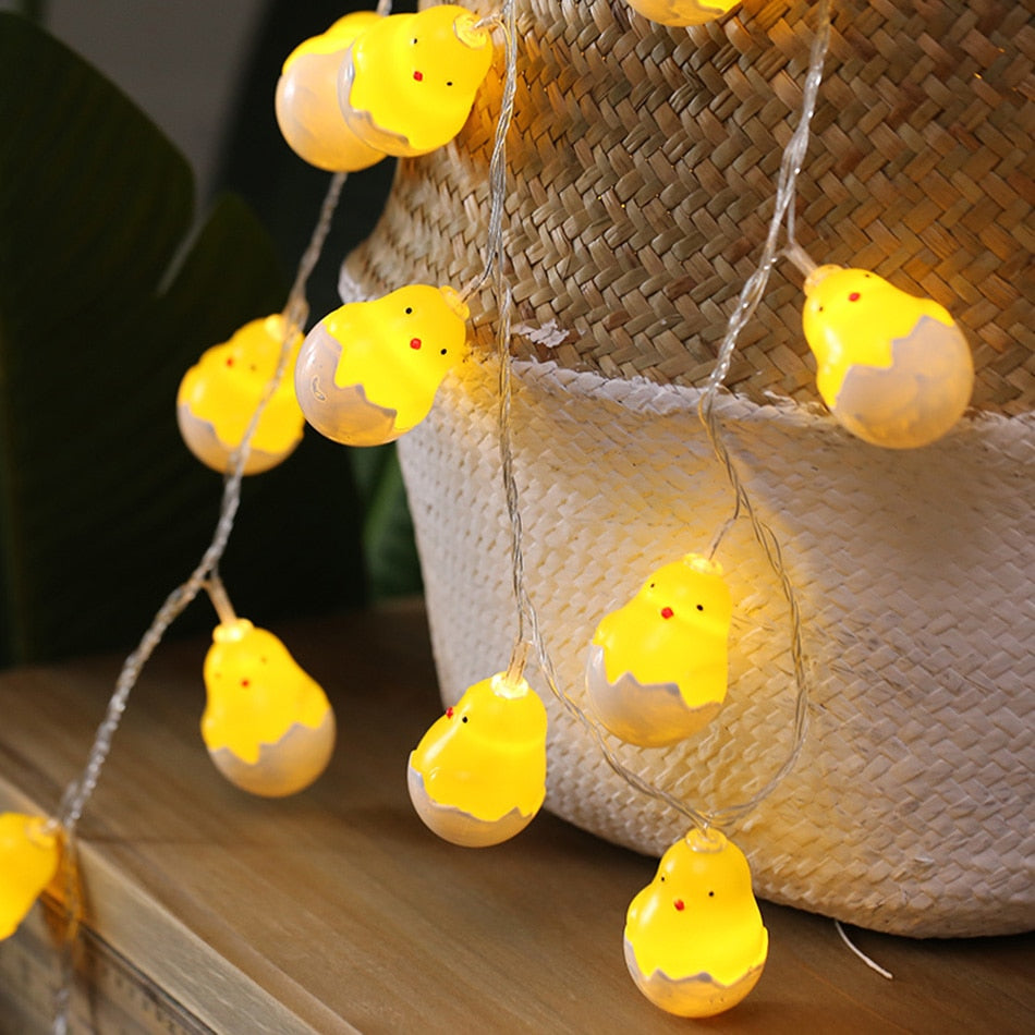 Novelty 3M 20 Leds chicks led light string for Christmas