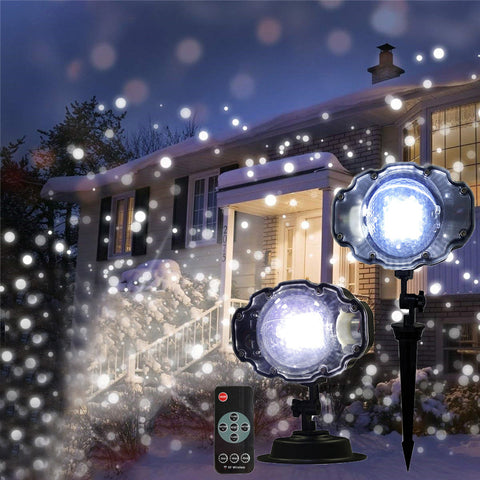 Christmas Snowfall Snowflakes led Laser Projector lamp