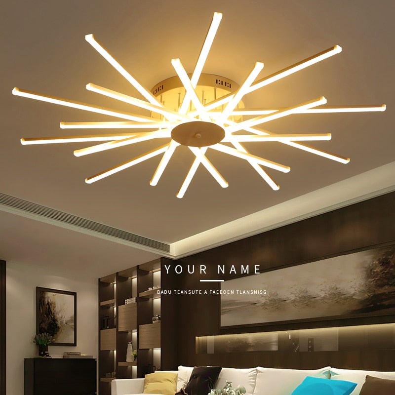 Modern Aluminum led ceiling lights with remote controller