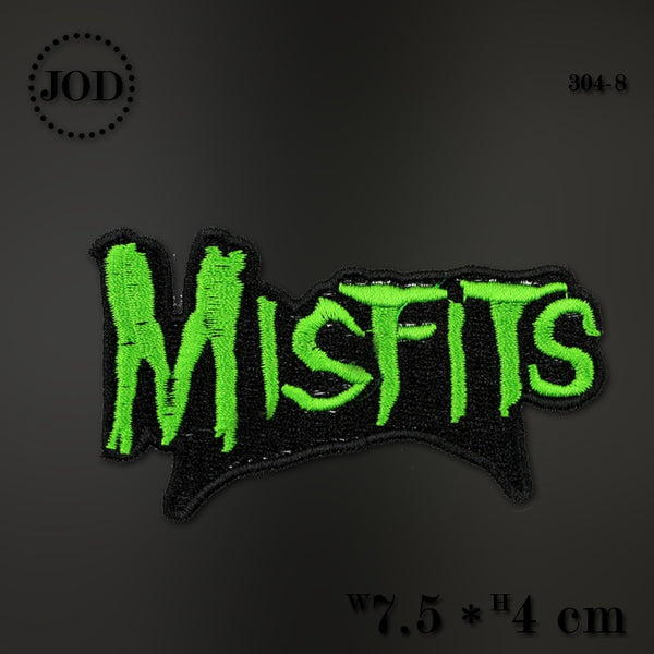 Misfits Dip Size:7.5x4cm Embroidery LOL Iron on Patches for Clothing Applique Clothes Patch DIY Sew on Applications Stickers@30