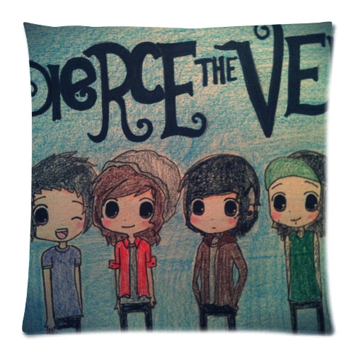 Soft Flannel Custom Pierce the Veil Zippered 18x18 (One Side) Square Cushion Cover P909