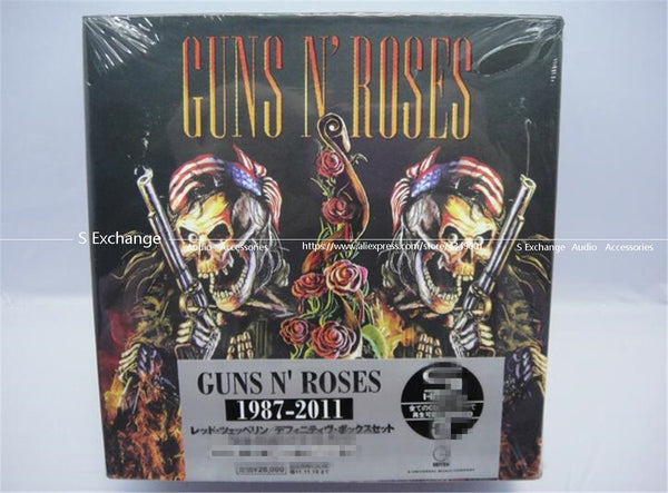 Free shipping! New factory Sealed version Guns and roses CD 1987-2011 Complete Collection album 9CD+2 DVD disc - Kool Cat Records T Shirts N More