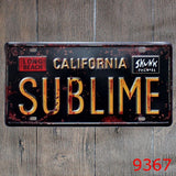 CALIFORNIA SUBLIME License plate Vintage ART POSTER Garage bar cafe home Iron painting 30*15CM