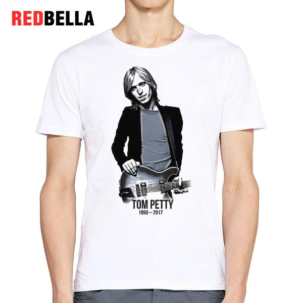 REDBELLA Vintage Musician Men Tshirt Tees Tom Petty American Pop Retro Hipster Cool Short Sleeve Poleras Hombre Printed Hot Tops