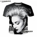 New Popular Singer Madonna 3D printed t shirt men women t-shirts summer top Harajuku Funny t shirts Hip hop streetwear tops tees